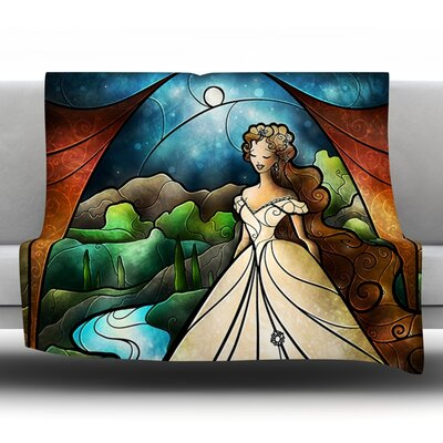 Think Of Me by Mandie Manzano Fleece Throw Blanket Size: 80 H x 60 W x 1 D