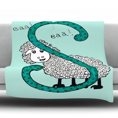 Sis for Sheep by Rosie Fleece Throw Blanket Color: Blue, Size: 80 H x 60 W x 1 D