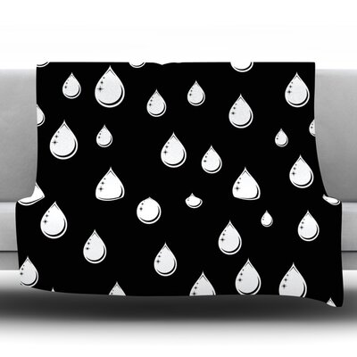 Raindrops by Suzanne Carter Fleece Throw Blanket Size: 80 H x 60 W x 1 D