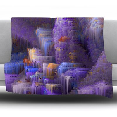 Mountain Majesty by Michael Sussna Fleece Throw Blanket Size: 80 H x 60 W x 1 D