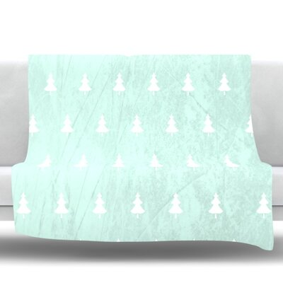 Pine by Snap Studio Fleece Throw Blanket Color: Aqua, Size: 90 H x 90 W x 1 D