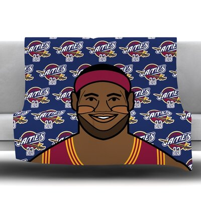 Lebron James Fleece Throw Blanket Size: 60 L x 50 W