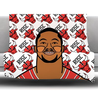 Derrick Rose Fleece Throw Blanket Size: 60 L x 50 W