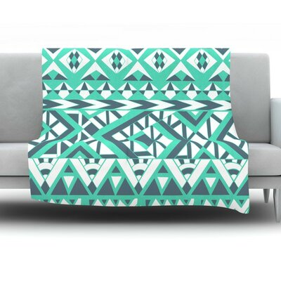 Tribal Simplicity by Pom Graphic Design Fleece Throw Blanket