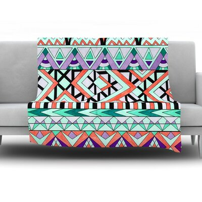 Tribal Invasion by Pom Graphic Design Fleece Throw Blanket