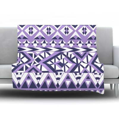 Tribal Simplicity II by Pom Graphic Design Fleece Throw Blanket