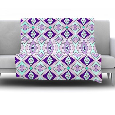 Geometric Flow by Pom Graphic Design Fleece Throw Blanket