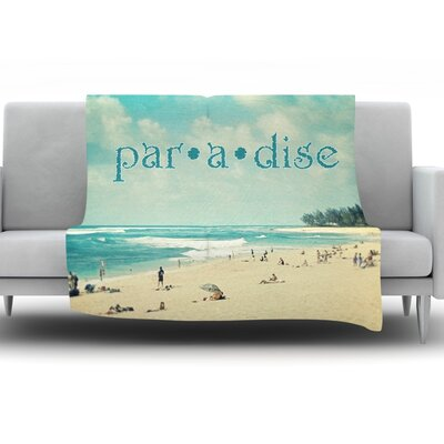 Paradise by Sylvia Cook Fleece Throw Blanket Size: 60 H x 50 W x 1 D