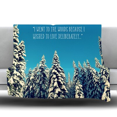 I Went to the Woods Fleece Throw Blanket Size: 40 L x 30 W