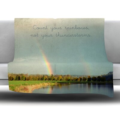 Count Rainbows Fleece Throw Blanket Size: 40 L x 30 W