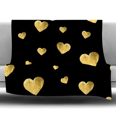 Floating Hearts Fleece Throw Blanket Size: 80 L x 60 W