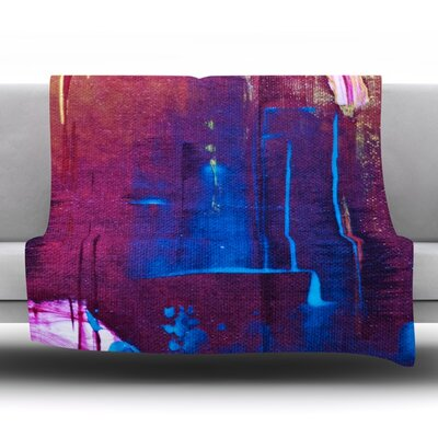 Cityscape Abstracts Fleece Throw Blanket Size: 80 L x 60 W