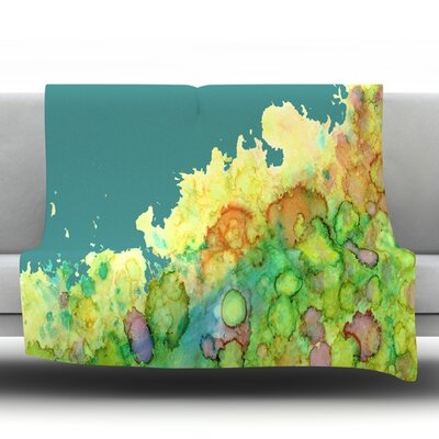 Sea Life II Fleece Throw Blanket Size: 60 L x 50 W