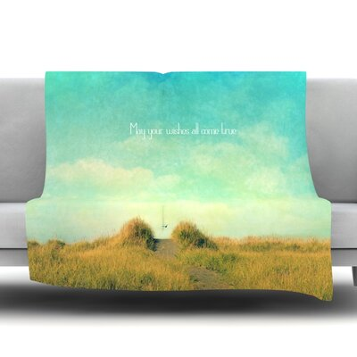 May Your Wishes Fleece Throw Blanket Size: 40