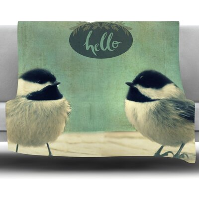 Hello Birds Fleece Throw Blanket Size: 60 L x 50 W
