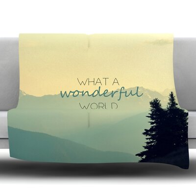 What a Wonderful World Fleece Throw Blanket Size: 40 L x 30 W