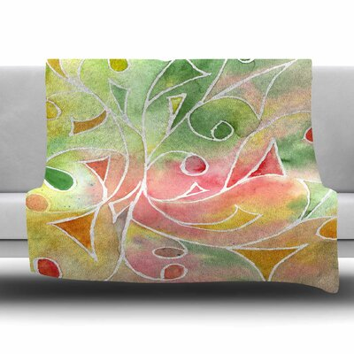 Gift Wrap Fleece Throw Blanket Size: 80 L x 60 W
