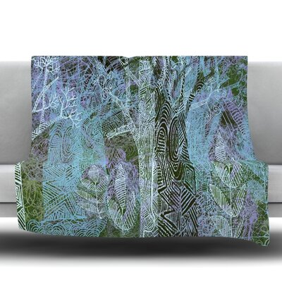 Wild Forest Fleece Throw Blanket Size: 40 L x 30 W
