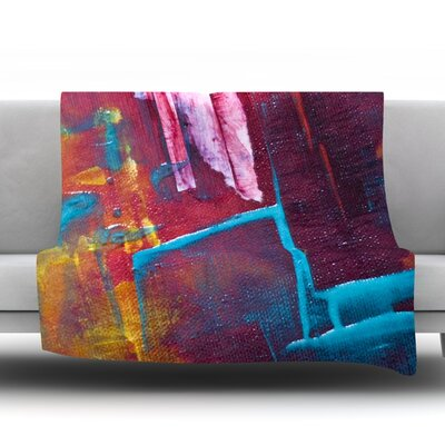 Cityscape Abstracts II Fleece Throw Blanket Size: 80 L x 60 W