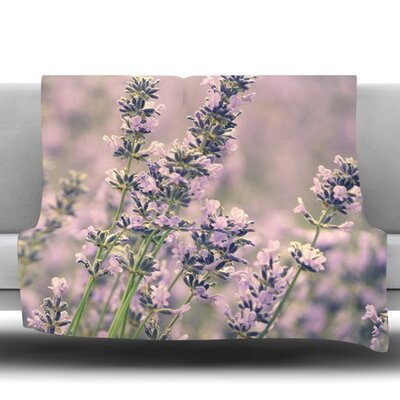 Smell the Flowers Fleece Throw Blanket Size: 80 L x 60 W