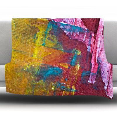 Cityscape Abstracts III Fleece Throw Blanket Size: 80 L x 60 W