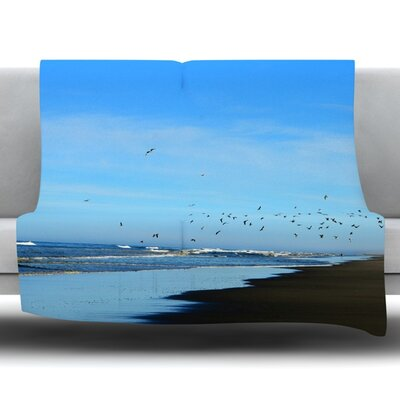 Beach Hair Fleece Throw Blanket Size: 80 L x 60 W