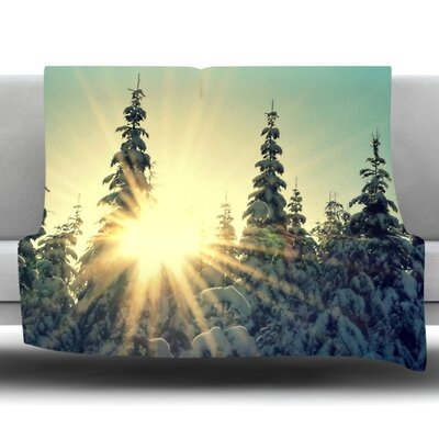 Shine Bright Fleece Throw Blanket Size: 60 L x 50 W