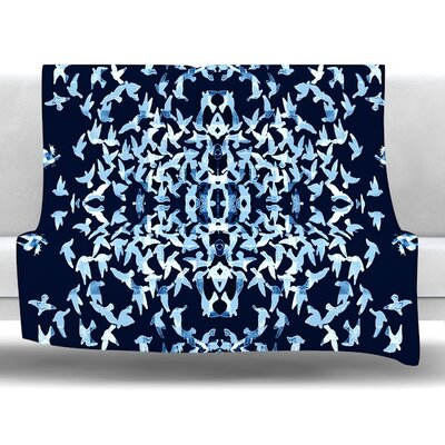 Night Birds Fleece Throw Blanket Size: 40 L x 30 W