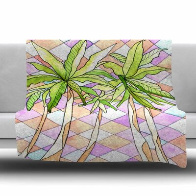 Geometric Tropic Fleece Throw Blanket Size: 80 L x 60 W