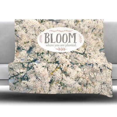 Bloom Where You Are Planted Fleece Throw Blanket Size: 60 L x 50 W