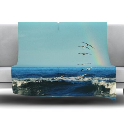 Ill Follow Fleece Throw Blanket Size: 80 L x 60 W