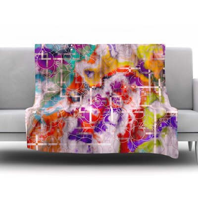 Quantum Foam by Michael Sussna Fleece Throw Blanket Size: 80 H x 60 W x 1 D