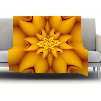 Citrus Star by Michael Sussna Fleece Throw Blanket Size: 60 H x 50 W x 1 D