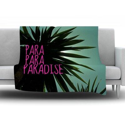 Exotic Paradise by Nika Martinez Fleece Throw Blanket Size: 40'' H x 30'' W x 1
