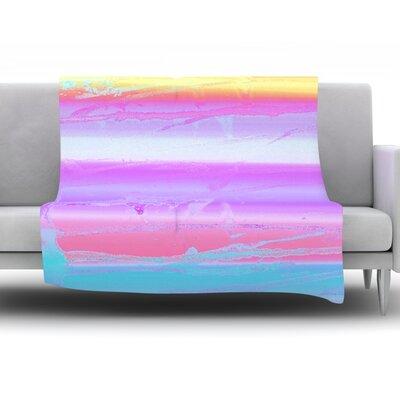 Drip Dye Warm by Nina May Fleece Throw Blanket Size: 80 H x 60 W x 1 D