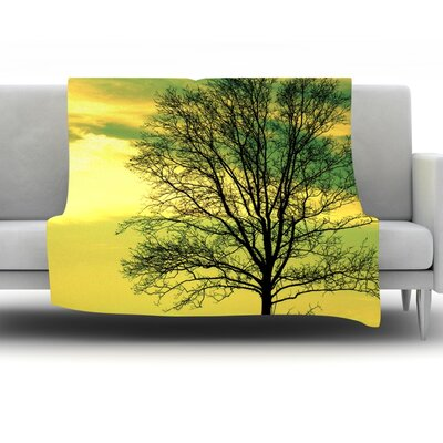 Tree Sky by Robin Dickinson Fleece Throw Blanket Size: 40 H x 30 W x 1 D