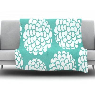 Hydrangeas Blossoms by Pom Graphic Design Fleece Throw Blanket Size: 90 H x 90 W x 1 D