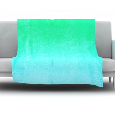 Hawaiian by Monika Strigel Fleece Throw Blanket Size: 40 H x 30 W x 1 D