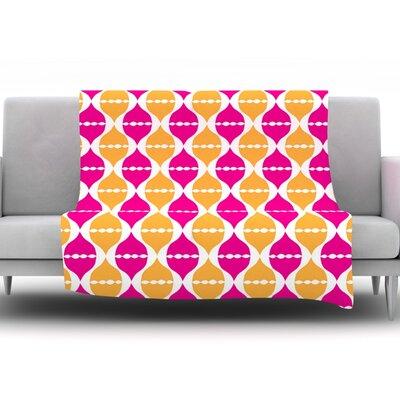 Moroccan Dreams by Apple Kaur Designs Fleece Throw Blanket Size: 60 H x 50 W x 1 D