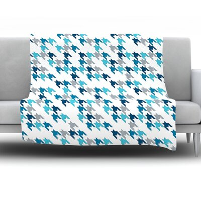 Tooth by Project M Fleece Throw Blanket Color: Blue, Size: 60 H x 50 W x 1 D