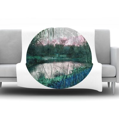 Swamp by Micah Sager Fleece Throw Blanket Size: 80 H x 60 W x 1 D