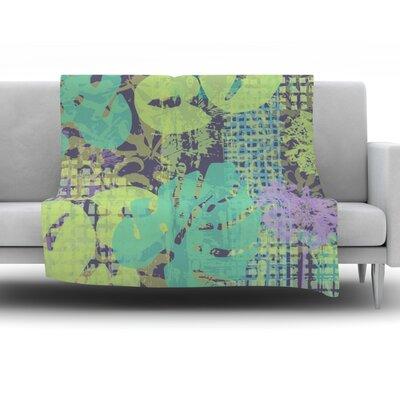 Verdure Collage by Chickaprint Fleece Throw Blanket Size: 80 H x 60 W x 1 D