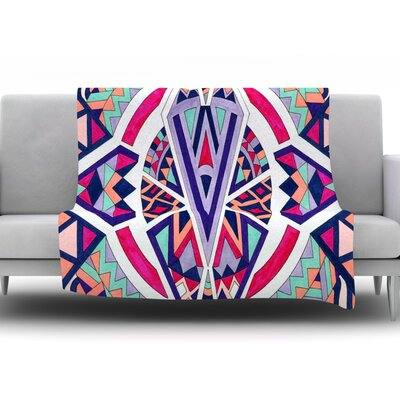 Abstract Journey by Pom Graphic Design Fleece Throw Blanket Size: 60 H x 50 W x 1 D