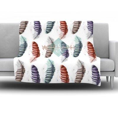 Wildfree by Lydia Martin Fleece Throw Blanket Size: 80 H x 60 W x 1 D