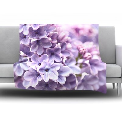 Lilac by Sylvia Cook Fleece Throw Blanket Size: 60 H x 50 W x 1 D