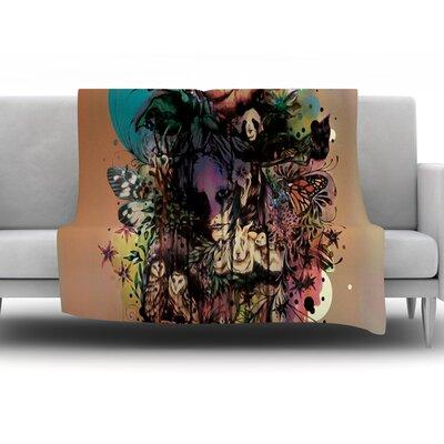 Doom and Bloom by Mat Miller Fleece Throw Blanket Size: 40 H x 30 W x 1 D