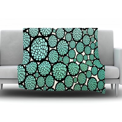 Blooming Trees by Pom Graphic Design Fleece Throw Blanket Size: 40 H x 30 W x 1 D