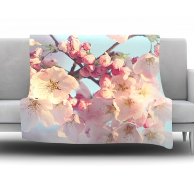 Waiting for Spring by Sylvia Cook Fleece Throw Blanket Size: 40 H x 30 W x 1 D