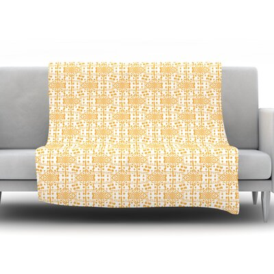 Diamonds by Apple Kaur Designs Fleece Throw Blanket Size: 80 H x 60 W x 1 D
