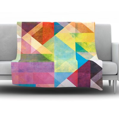 Color Blocking II by Mareike Boehmer Fleece Throw Blanket Size: 90 H x 90 W x 1 D